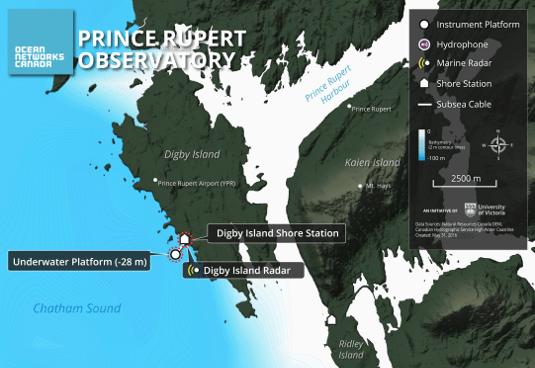 Digby Island Location Map