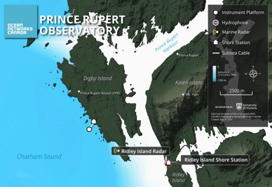 Ridley Island Location Map
